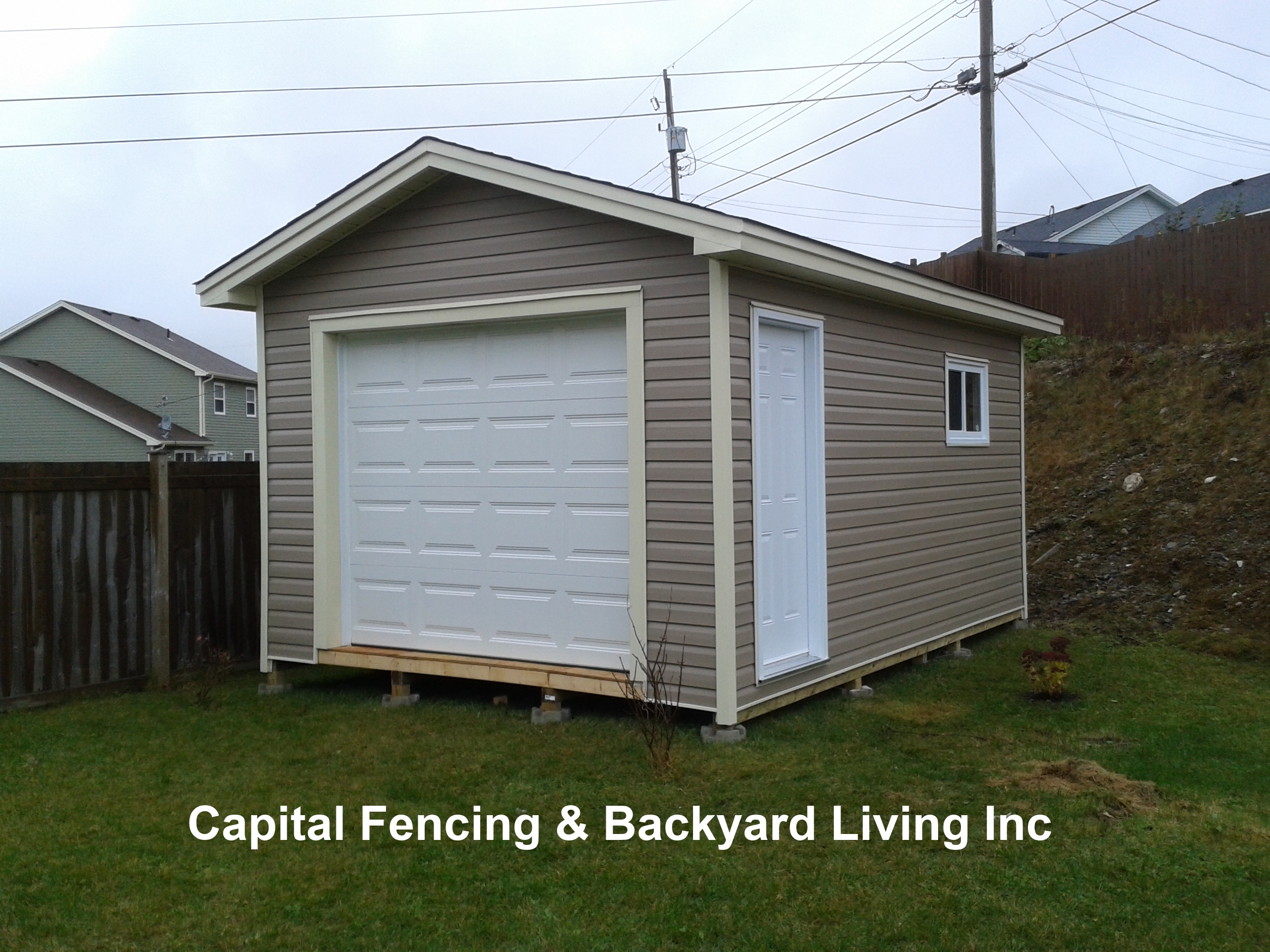 Sheds garages capital fencing and backyard living for 10x14 garage door