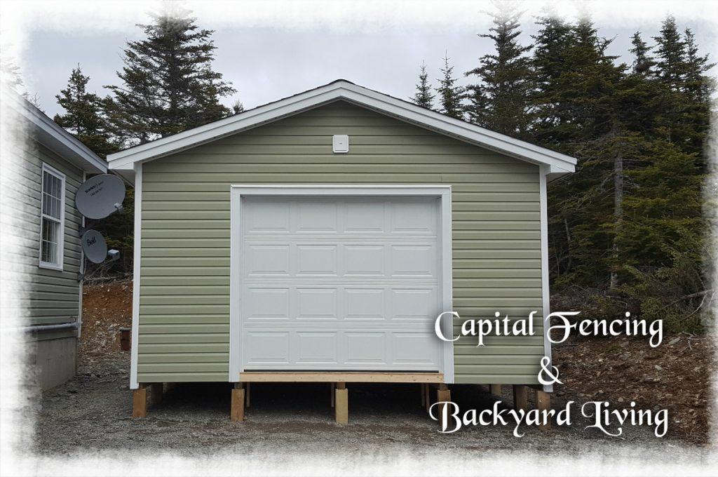 16x20 Shed With 8x7 Overhead Door, Steel Door,  vinyl soffit & Metal fascia