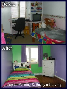 Bedroom befor and after