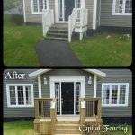 Before and After of the front deck
