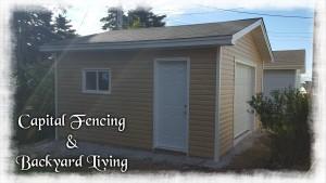 """16X16 Garage 1-8x7 Overhead Door, 1- 32"""" Steel Door, 1-36x24 Sliding Window"""